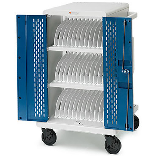 Bretford Core MS Charging Cart AC with Back Panel for Up to 24 Devices