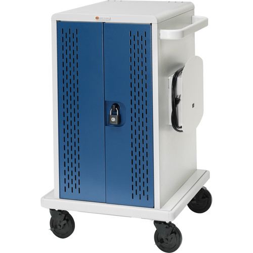 Bretford Core MS Store & Charge Cart with Rollers for 36 Chromebooks (Concrete/Topaz)