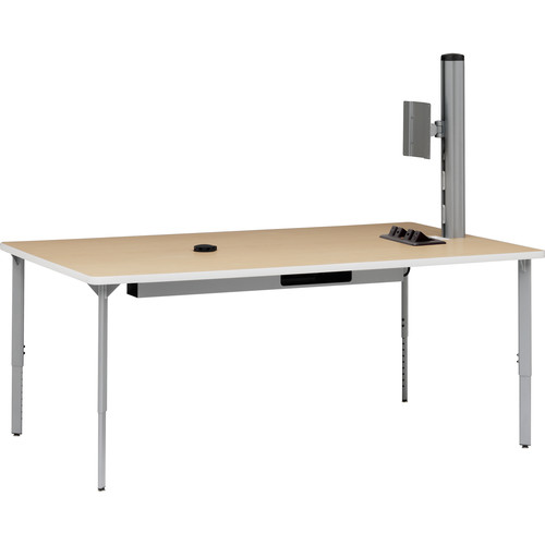 "Bretford 72 x 42"" EXPLORE Teaming Table (4 AC Outlets, 4 Casters)"