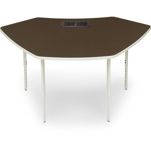 """Bretford 61.75 x 32.5"""" EXPLORE 4-Leg SCALE-UP Active Learning Table (2 AC Outlets, 4 Glides)"""