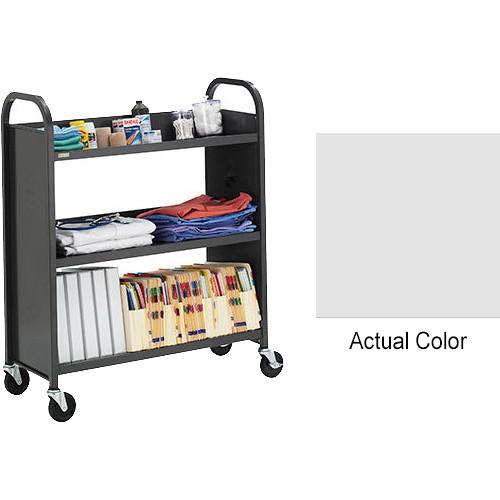 "Bretford Booktruck 3-Slant Shelves/ 4"" Casters - Aluminum"