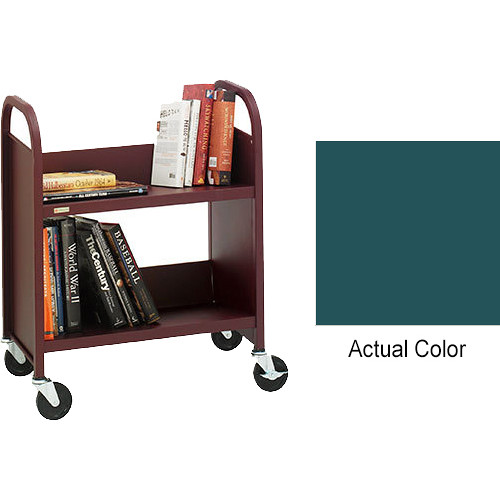"Bretford Booktruck 2-Slant Shelves/ 4"" Casters - Polo"