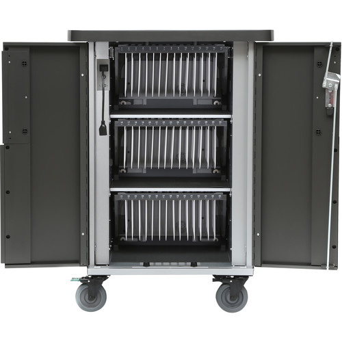 Bretford EVER Cart T45 Mobile 45-Device AC Charging Cart with 180° Back Panel