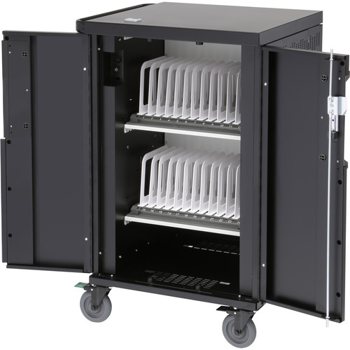 Bretford Core X Charging Cart with Back Panel for Up to 24 Devices