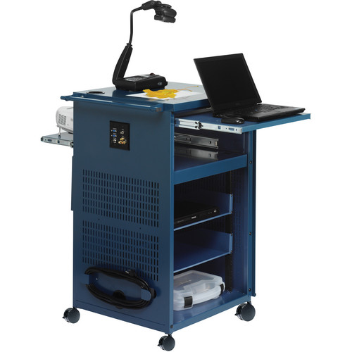 Bretford PAL Multimedia Presentation Cart with 12 Electric Outlets (Topaz)