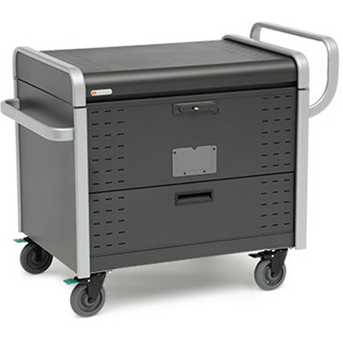 Bretford Toploader AC Charge Cart for 40 Devices (Graphite/Aluminum)