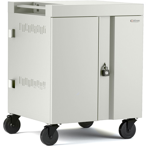 Bretford CUBE Cart 16-Device Charging Cart with 270° Doors (Concrete)