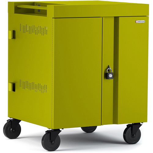 Bretford CUBE Cart 16-Device Charging Cart with 270° Doors (Electric Green)