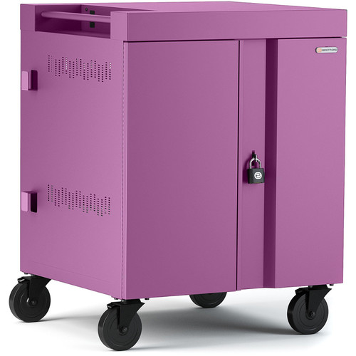 Bretford CUBE Cart 16-Device Charging Cart with 270° Doors (Orchid)
