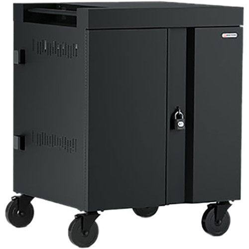 Bretford CUBE Cart 16-Device Charging Cart with 90° Doors (Black)