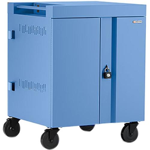 Bretford CUBE Cart 16-Device Charging Cart with 90° Doors (Cornflower)