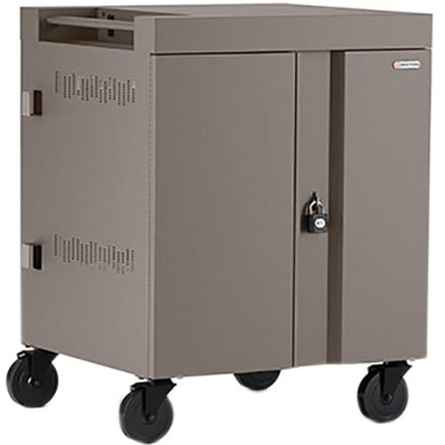 Bretford 16-Device CUBE Charging Cart for Chromebooks, Laptops, & Tablets (Metallic Champangne)