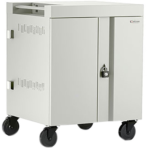 Bretford CUBE Cart 16-Device Charging Cart with 90° Doors (Concrete)