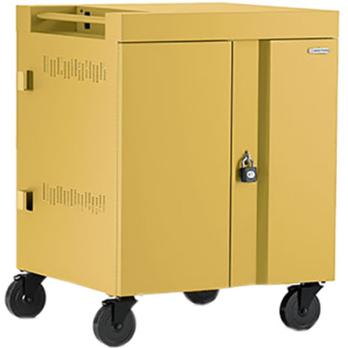 Bretford CUBE Cart 16-Device Charging Cart with 90° Doors (Mustard)