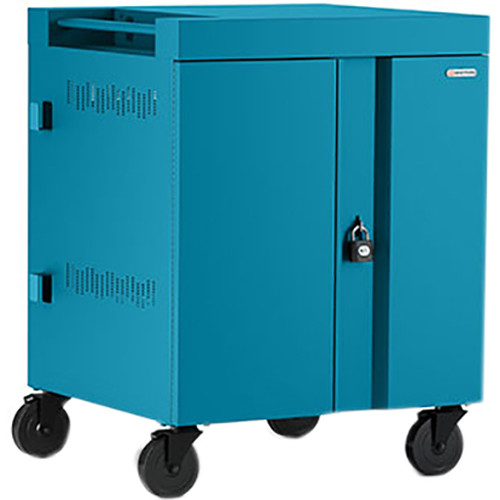 Bretford CUBE Cart 16-Device Charging Cart with 90° Doors (Pacific Blue)