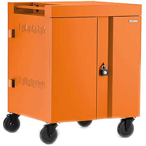Bretford CUBE Cart 16-Device Charging Cart with 90° Doors (Tangerine)