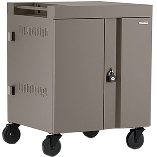 Bretford CUBE Cart 32-Device Charging Cart with 270° Doors (Metallic Champagne)