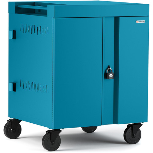 Bretford CUBE Cart 32-Device Charging Cart with 270° Doors (Pacific Blue)