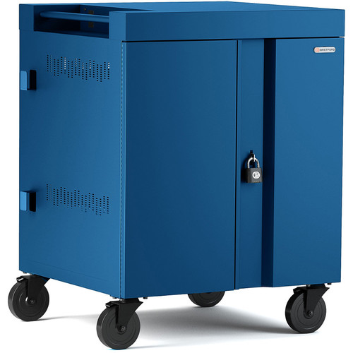 Bretford CUBE Cart 32-Device Charging Cart with 270° Doors (Topaz)