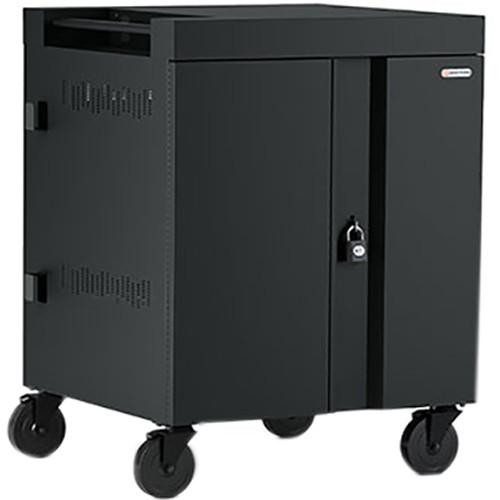 Bretford 32-Device CUBE Charging Cart for Chromebooks, Laptops, & Tablets (Black)