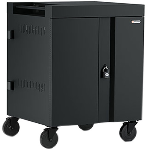 Bretford CUBE Cart 32-Device Charging Cart with 90° Doors (Black)