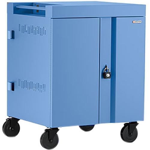 Bretford CUBE Cart 32-Device Charging Cart with 90° Doors (Cornflower)