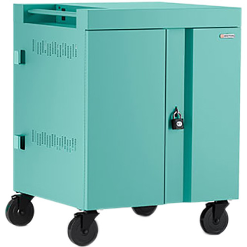 Bretford CUBE Cart 32-Device Charging Cart with 90° Doors (Cool Mint)