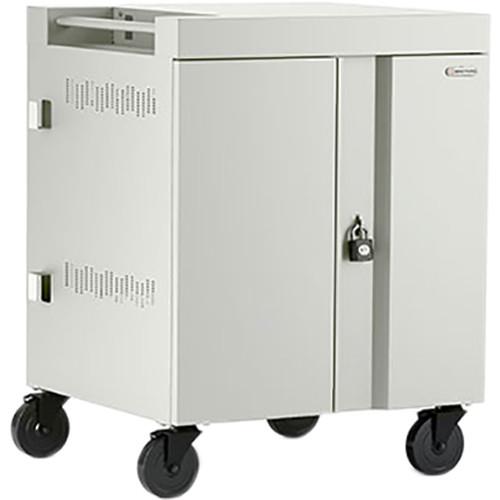 Bretford 32-Device CUBE Charging Cart for Chromebooks, Laptops, & Tablets (Concrete)