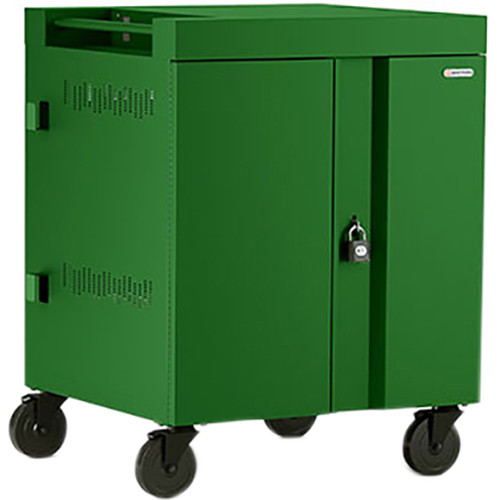 Bretford CUBE Cart 32-Device Charging Cart with 90° Doors (Grass)
