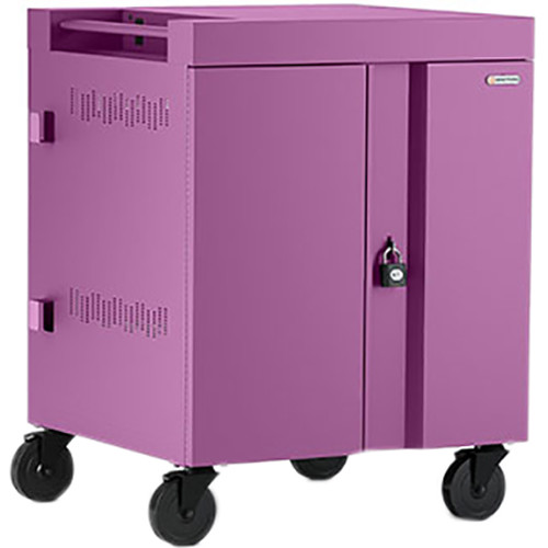 Bretford CUBE Cart 32-Device Charging Cart with 90° Doors (Orchid)