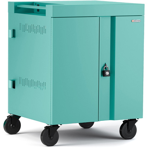 Bretford CUBE Cart 36-Device Charging Cart with 270° Doors (Cool Mint)