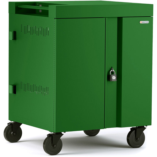 Bretford CUBE Cart 36-Device Charging Cart with 270° Doors (Grass)