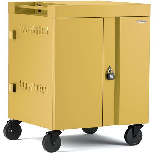 Bretford CUBE Cart 36-Device Charging Cart with 270° Doors (Mustard)