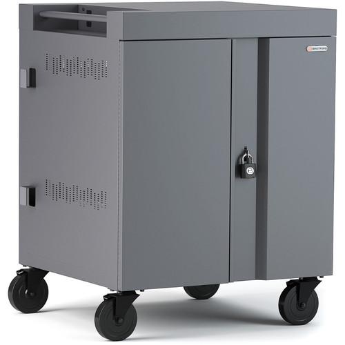 Bretford CUBE Cart 36-Device Charging Cart with 270° Doors (Platinum)