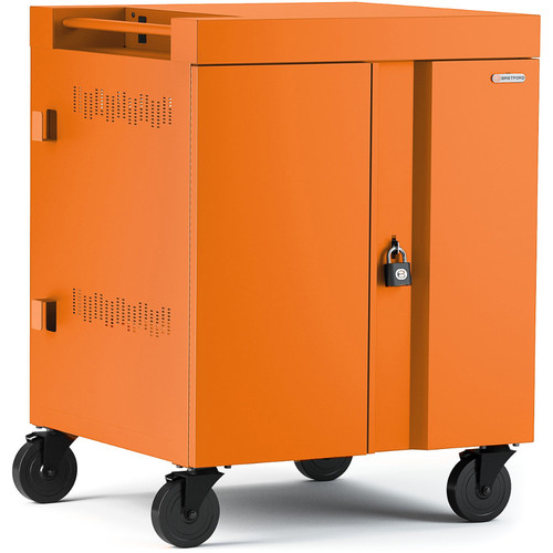 Bretford CUBE Cart 36-Device Charging Cart with 270° Doors (Tangerine)