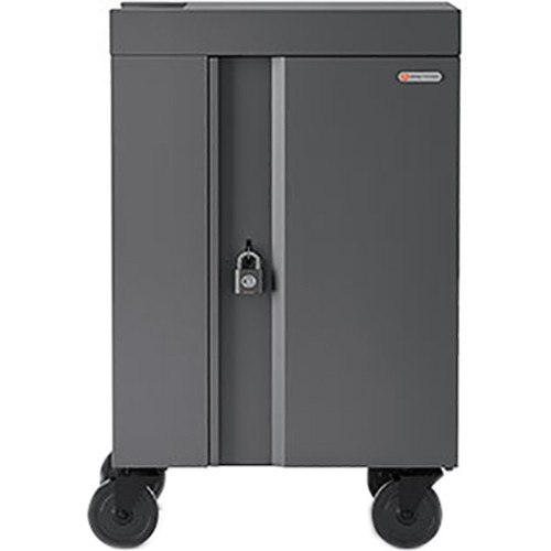 Bretford 20-Device AC Charging Cart with 90-Degree Outlets (Charcoal)