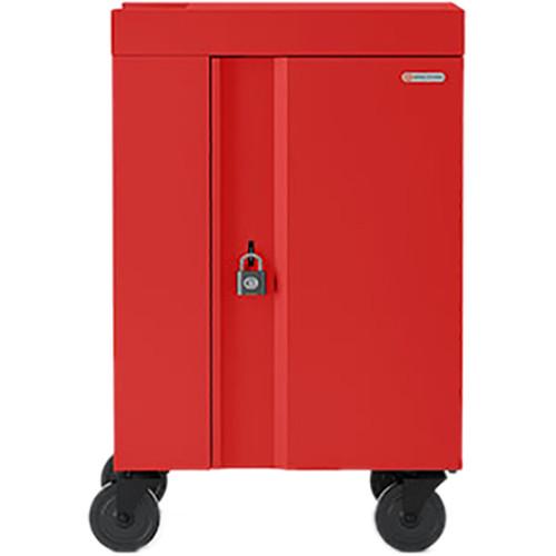 Bretford 20-Device CUBE Mini Charging Cart (Red)