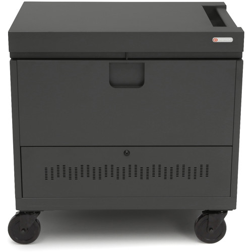 Bretford CUBE Toploader 40-Device Charging Cart (Charcoal)