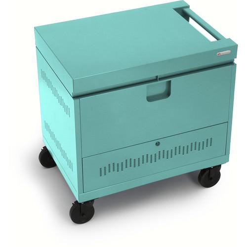 Bretford CUBE Toploader 40-Device Charging Cart (Cool Mint)