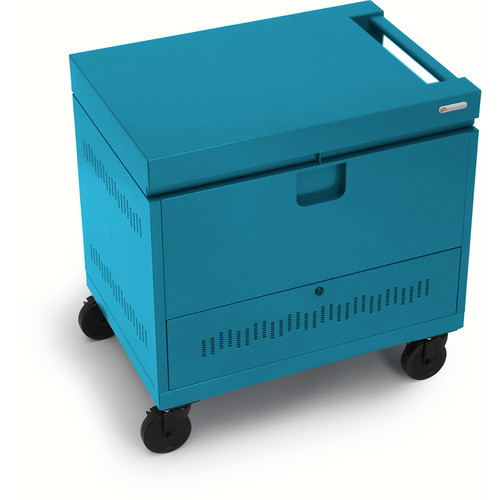 Bretford CUBE Toploader Mini 20-Device Charging Cart (Pacific Blue)