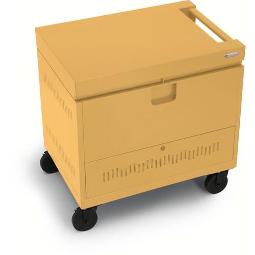 Bretford CUBE Toploader Mini 24-Device Charging Cart (Mustard)