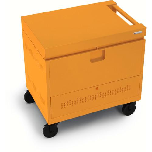 Bretford CUBE Toploader Mini 24-Device Charging Cart (Tangerine)