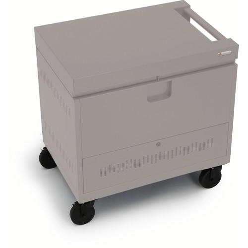 Bretford CUBE Toploader Mini 26-Device Charging Cart (Metallic Champagne)