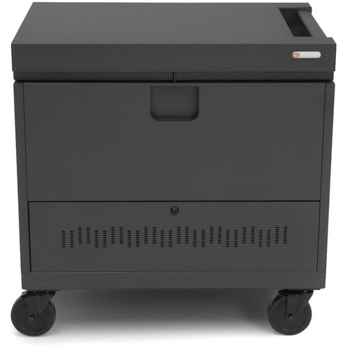 Bretford CUBE Toploader Mini 26-Device Charging Cart (Charcoal)