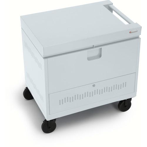Bretford CUBE Toploader Mini 26-Device Charging Cart (Concrete)