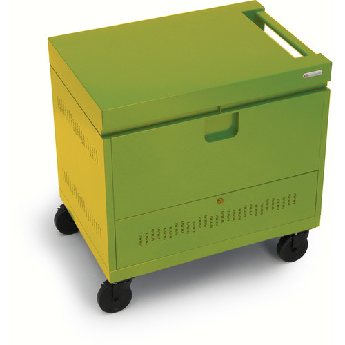 Bretford CUBE Toploader Mini 26-Device Charging Cart (Electric Green)