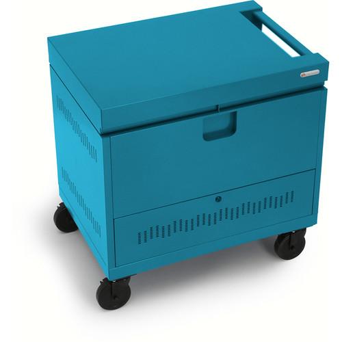 Bretford CUBE Toploader Mini 26-Device Charging Cart (Pacific Blue)
