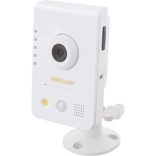 Brickcom CB-300A Series 3MP Full HD Indoor Compact Cube Network Camera with PoE, 2-Way Audio, & 6.34mm Fixed Lens