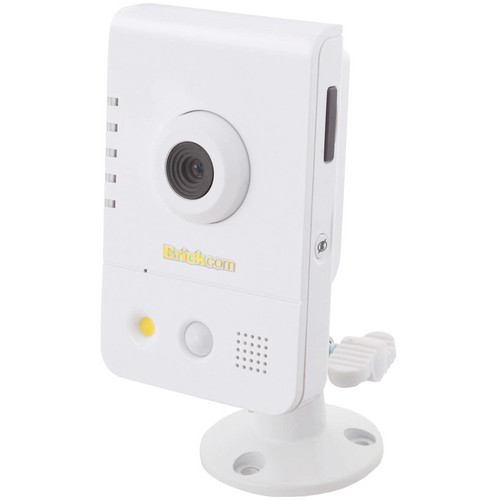 Brickcom CB-500A Series 5MP Full HD Indoor Compact Cube Network Camera with PoE, 2-Way Audio, & 6.34mm Fixed Lens