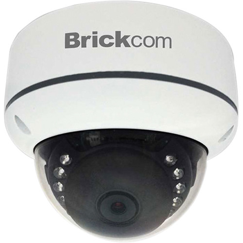 Brickcom Elite VD-E200NF 2MP Outdoor Vandal-Proof IR Network Dome Camera with PoE and 3.6mm Fixed Lens